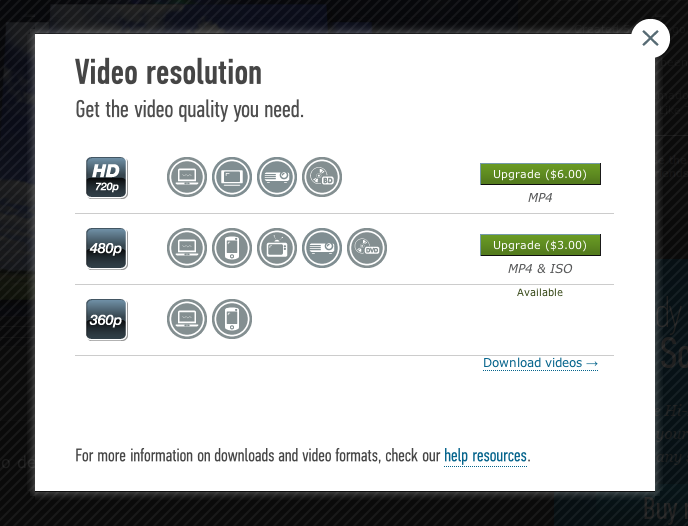 Video Resolution Options and Upgrades