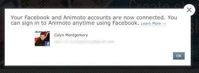 Animoto and Facebook