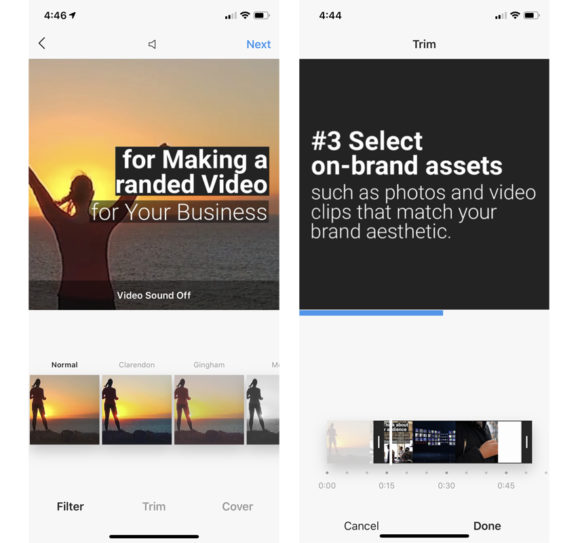 Instagram Video Filters and Video Trim