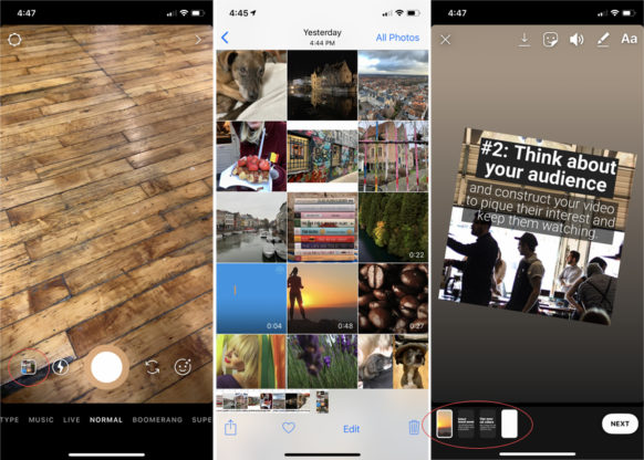 Share Video to an Instagram Story